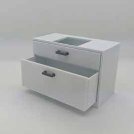 Cabinet with drawers and sink