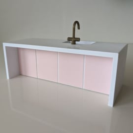 Kitchen I water island with dishwasher