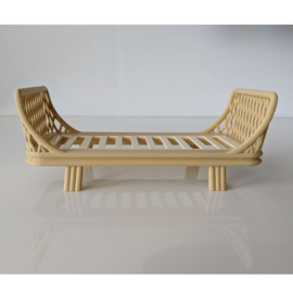Rattan bed single