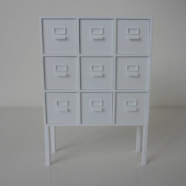 Compartment cabinet on legs