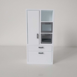 Tall cabinet with microwave and oven
