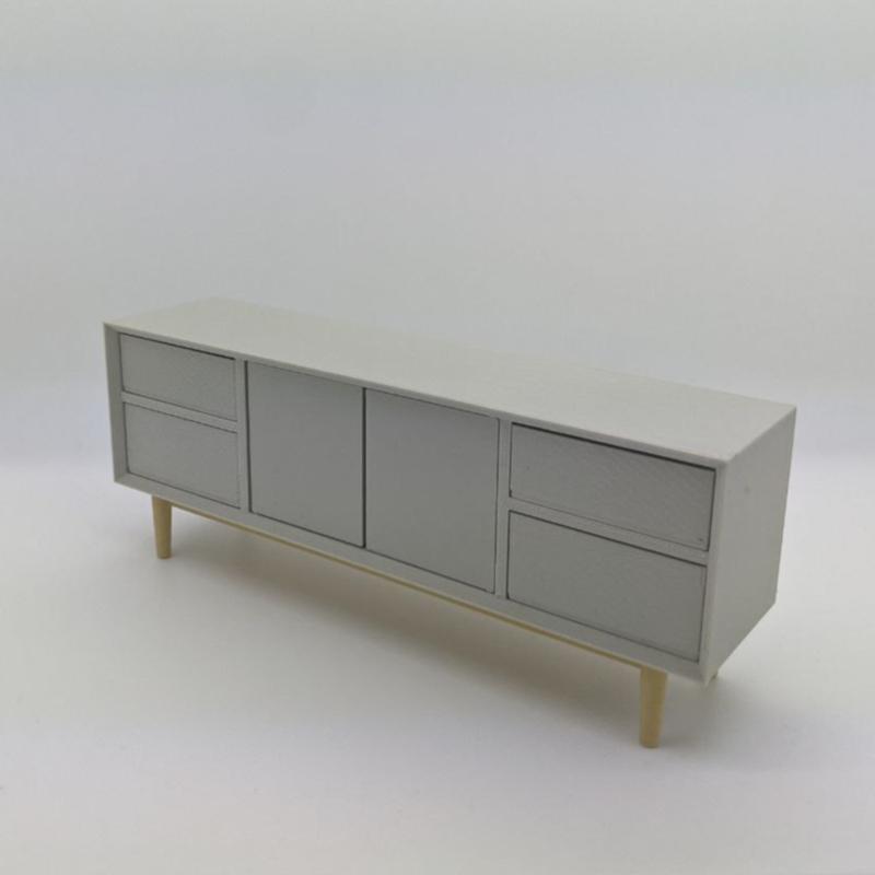 Dresser with mitered fascia