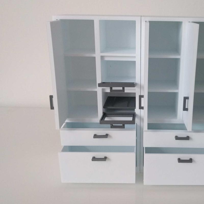Nieuw Hoge kast met ingebouwde oven en magnetron | Stel je eigen keuken IP-86