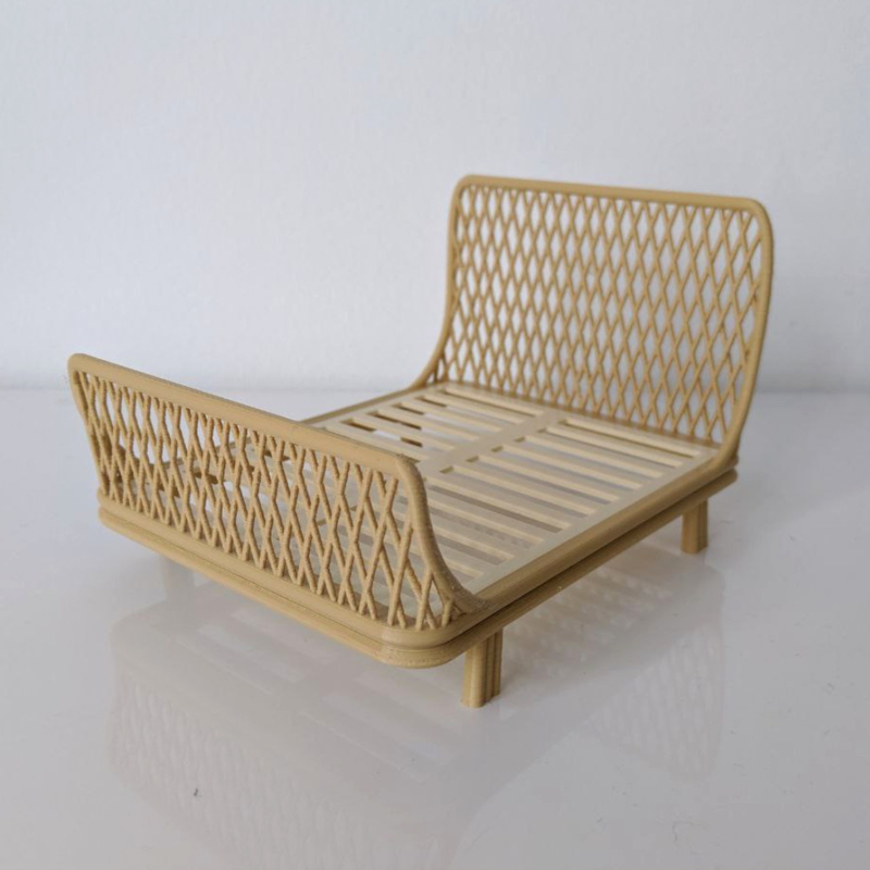 2-persoonsbed rotan