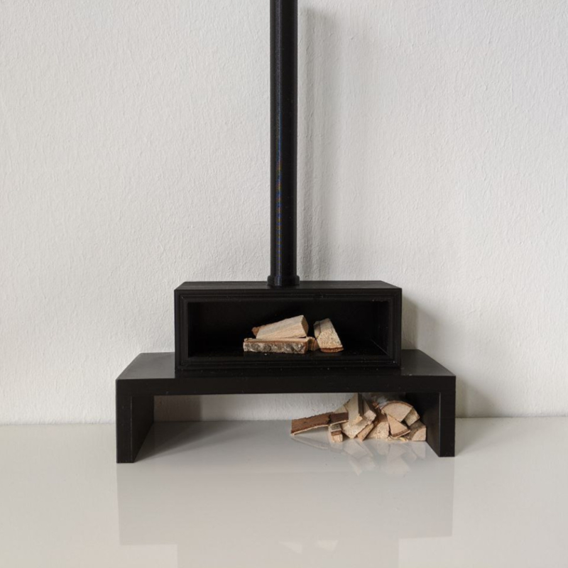 Fireplace with chimney