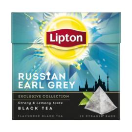 Lipton Black tea Russian earl grey, 20 stuks