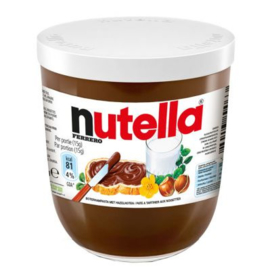 Nutella hazelnoot pasta, pot 200 gr.