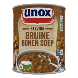 Unox Stevige Bruine bonen soep, blik 800 ml.