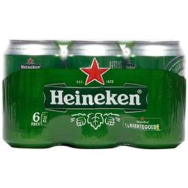Heineken pils, blik 6 x 33cl.