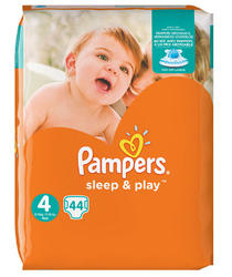 Pampers Sleep & Play, maat 4, 44ST