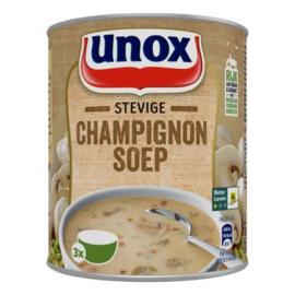 Unox Stevige Champignon soep, blik 800 ml.