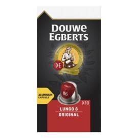 Douwe Egberts Lungo original koffiecups, 10 stuks