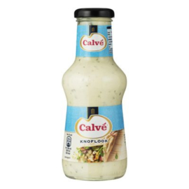 Calve Knoflooksaus, fles 320 ml.