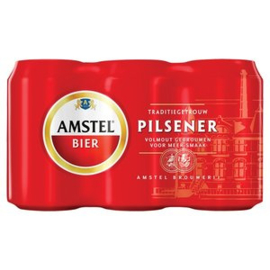 Amstel bier, blik 6 x 33cl.