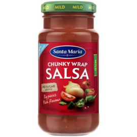 Santa Maria Chunky wrap salsa mild, pot 230 gr.