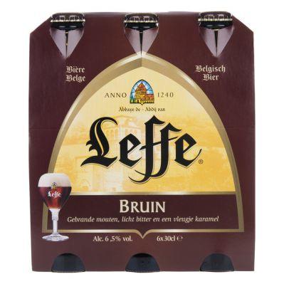 Leffe bruin bier, 6 x 30cl.