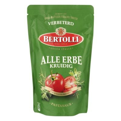 Bertollie kruidige tomaten saus, 500 gr.