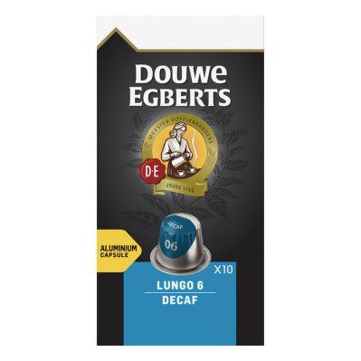 Douwe Egberts Lungo decaf koffiecups, 10 stuks