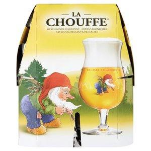 La Chouffe blonde bier, 4 x 33cl.