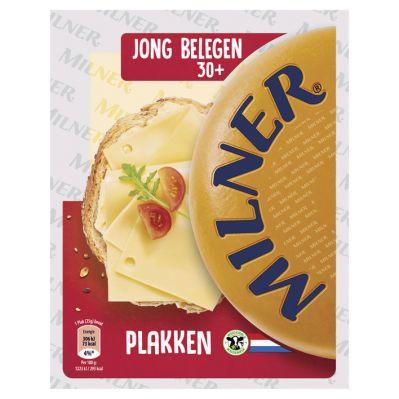 Milner Kaas gesneden jong belegen 30+, 175 gr.