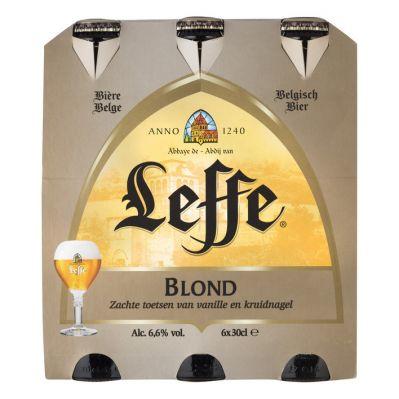 Leffe blond bier, 6 x 30cl.