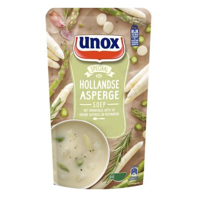 Unox Hollandse Aspergesoep, sta zak 570 ml.