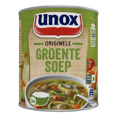 Unox Stevige Groentesoep, blik 800 ml.