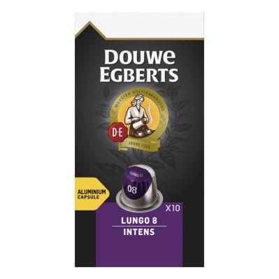 Douwe Egberts Lungo intens koffiecups, 10 stuks