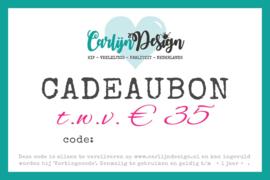 Cadeaubon  € 35,-
