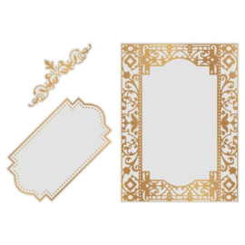 Couture Creations Gardenia Frames cut, foil & emboss die