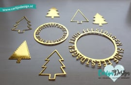 Snijmallen Kerstbomen versieren