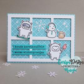 Snijmallen Sneeuwpop