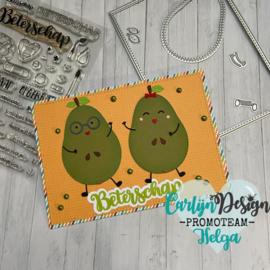 Snijmallen Avocado & peer groot