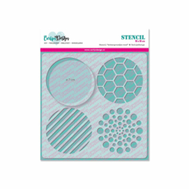 Stencil Background circles