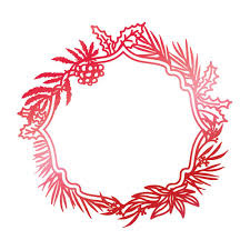 Couture Creations Wild Wreath hot foil stamp