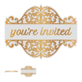 Couture Creations You're Invited Tag cut, foil & emboss die
