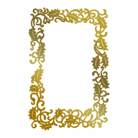 Couture Creations Framed Holly hot foil stamp