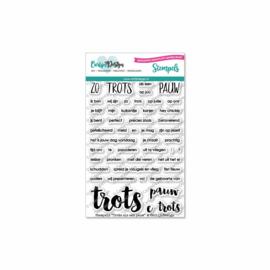 Stamps Trots als een pauw (Dutch)