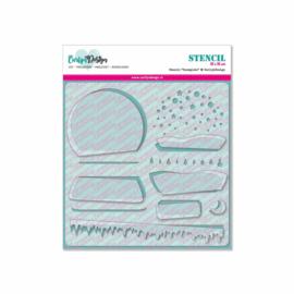 Stencil Snowglobe
