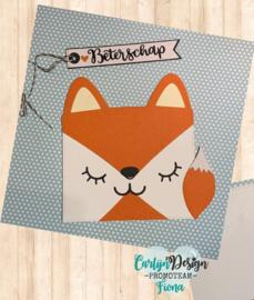 Dies Animal card cat unicorn fox