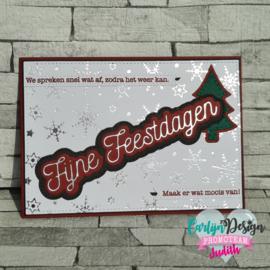 Hot foil Monoline Fijne Feestdagen