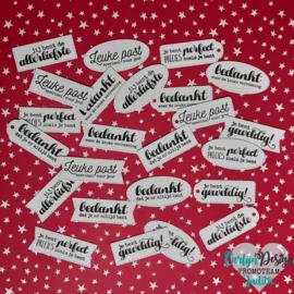 """Exclusieve 2-jarig jubileum snijmallen """"Labels cadeau & bedankt"""""""