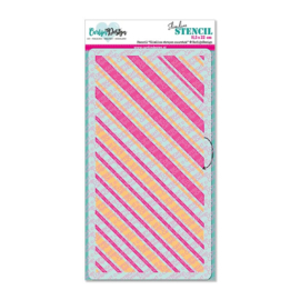 Stencil Slimline stripes candy cane