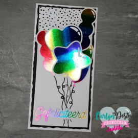 Hot foil stamps Balloons 2
