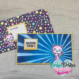 Snijmallen Mini Slimline kaart + envelop