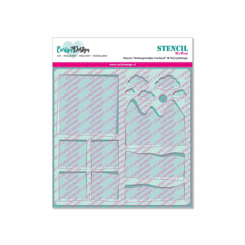 Stencil Background squares