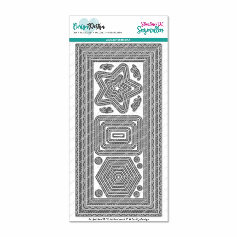 Snijmallen DL Slimline kaart 2