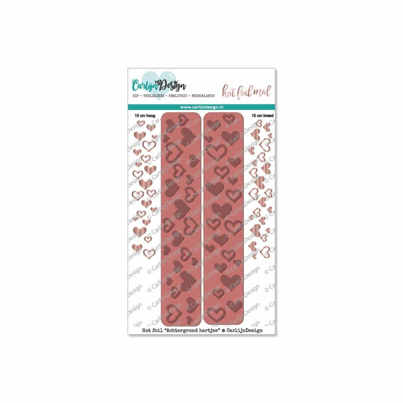 Hot foil Background hearts
