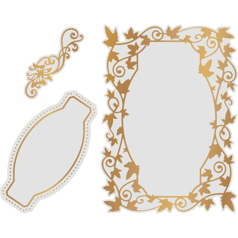 Couture Creations Flutterby Frames cut, foil & emboss die
