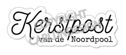 """Exclusief bedankstempeltje """"Kerstpost van de Noordpool"""""""